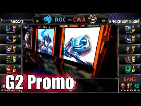 ROCCAT vs Copenhagen Wolves Academy | Game 2 S5 EU LCS Summer 2015 Promotion  | ROC vs CWA G2