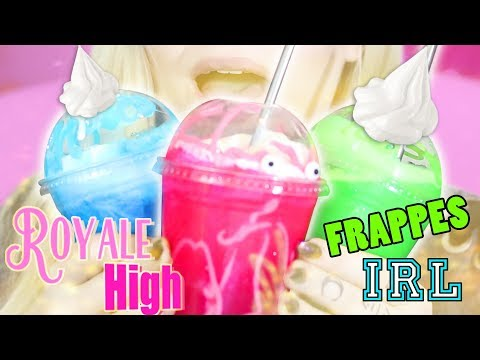 Making ALL The Royale High FRAPPES IRL!