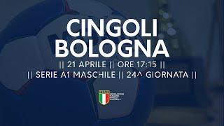 Serie A1M [24^]: Cingoli - Bologna 22-24