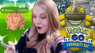 HOW MANY SHINIES? Shiny Rhyhorn Community Day in Pokémon Go! (Vlog)