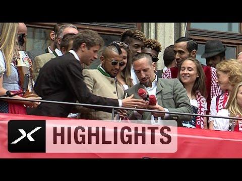 "Franck Ribery veräppelt Arturo Vidal: ""Arturo Mafioso"" | Meisterfeier des FC Bayern München"
