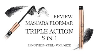 Review - Recensione NUOVO MASCARA FLORMAR - TRIPLA ACTION 3 in 1 - Bohemian Dream  Collection-