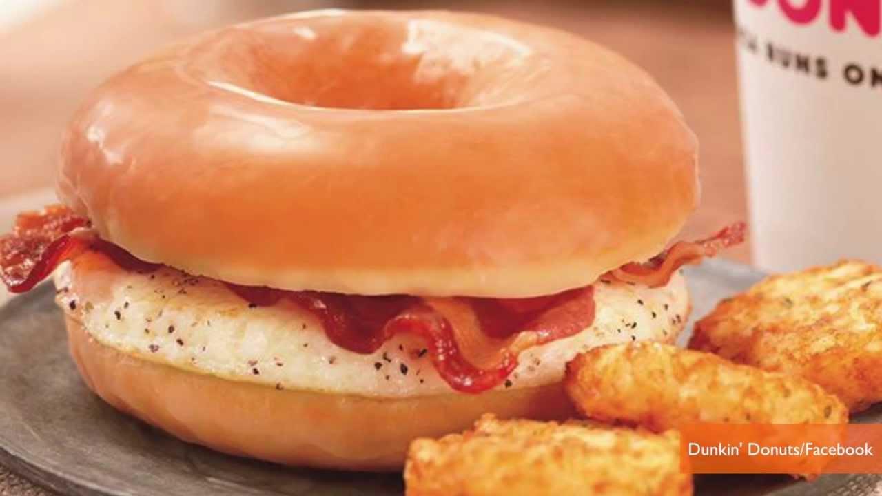 Donut Bacon Sandwich Dunkin' Donuts' Bacon Donut