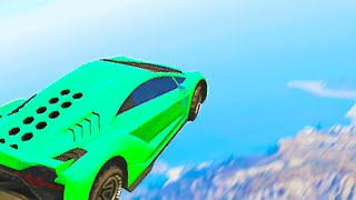 Biggest Mountain Jump Ever! (GTA 5 Funny Moments)