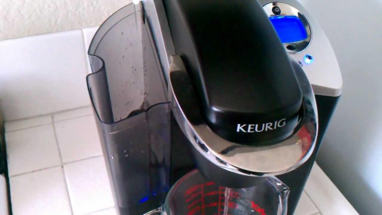 Keurig Coffee Maker Cleaning Descale : Keurig B60 Water Pumping Back To Reservoir Problem - YouTube