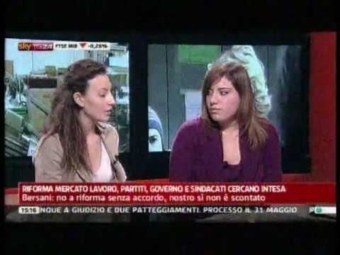 Elena Monticelli – 2^PARTE-Paola Saluzzi  SKY TG24 Pomeriggio del 22FEB2012 ore 14,35