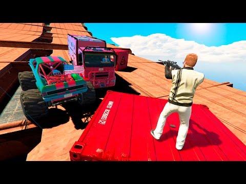 ЛЮДИ СНАЙПЕРЫ ПРОТИВ ОГРОМНЫХ ГРУЗОВИКОВ (GTA 5 Смешные моменты)