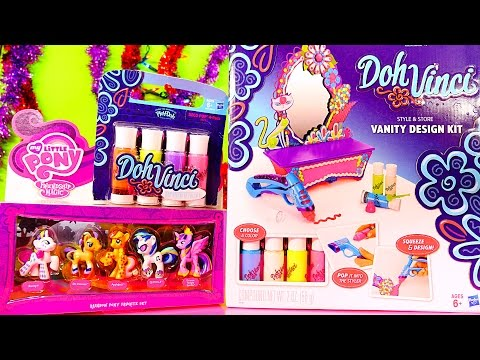 Dohvinci Tutorial Vanity Design Kit From Play Doh My Little Pony Toys Set Dctc Disney Cars Toy Club video