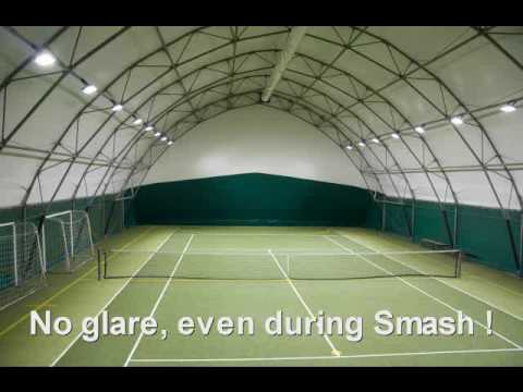Sports Lighting Led Lights On A Tennis Court Youtube