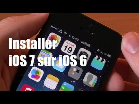Installer l'iOS 7 ainsi que ses fonctionnalités (thème) sur iOS 6 iPhone 5/4S/4 et iPod Touch 5