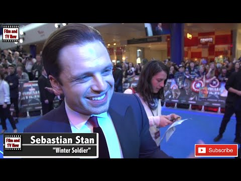 Sebastian Stan Captain America: Civil War European Premiere