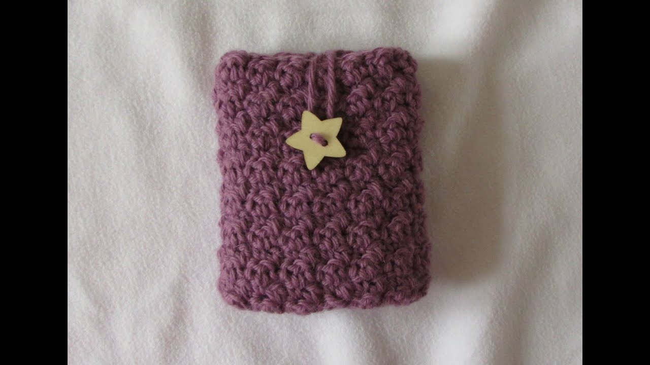 VERY EASY crochet phone case tutorial - textured cell phone pouch ...