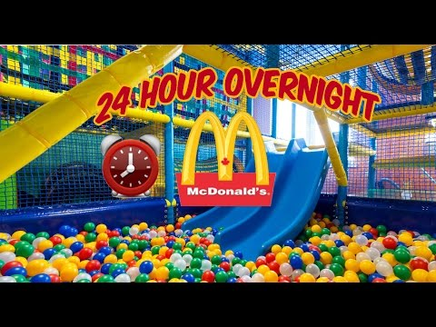 (COPS!) 24 HOUR OVERNIGHT in MCDONALDS FORT ⏰ | OVERNIGHT CHALLENGE MCDONALDS FAIL COPS GET INVOLVED