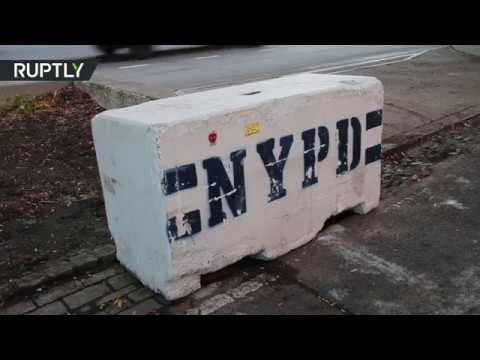 RAW: Concrete blocks fortify Manhattan bike path in wake of deadly attack