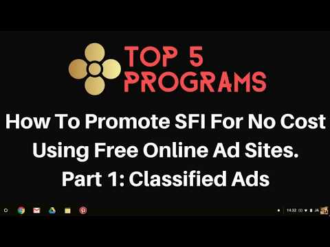 How To Post Free Classified Ads Online & Promote SFI For No Cost