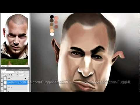Pitbull - Speed painting a caricature