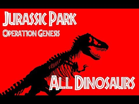 Dinosaurs from Jurassic Park Operation Genesis Video