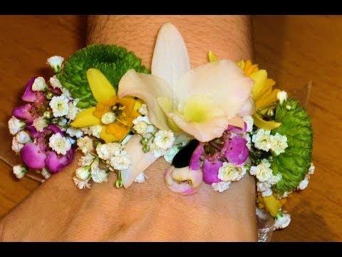 DIY Valentin / Pulsera de flores naturales
