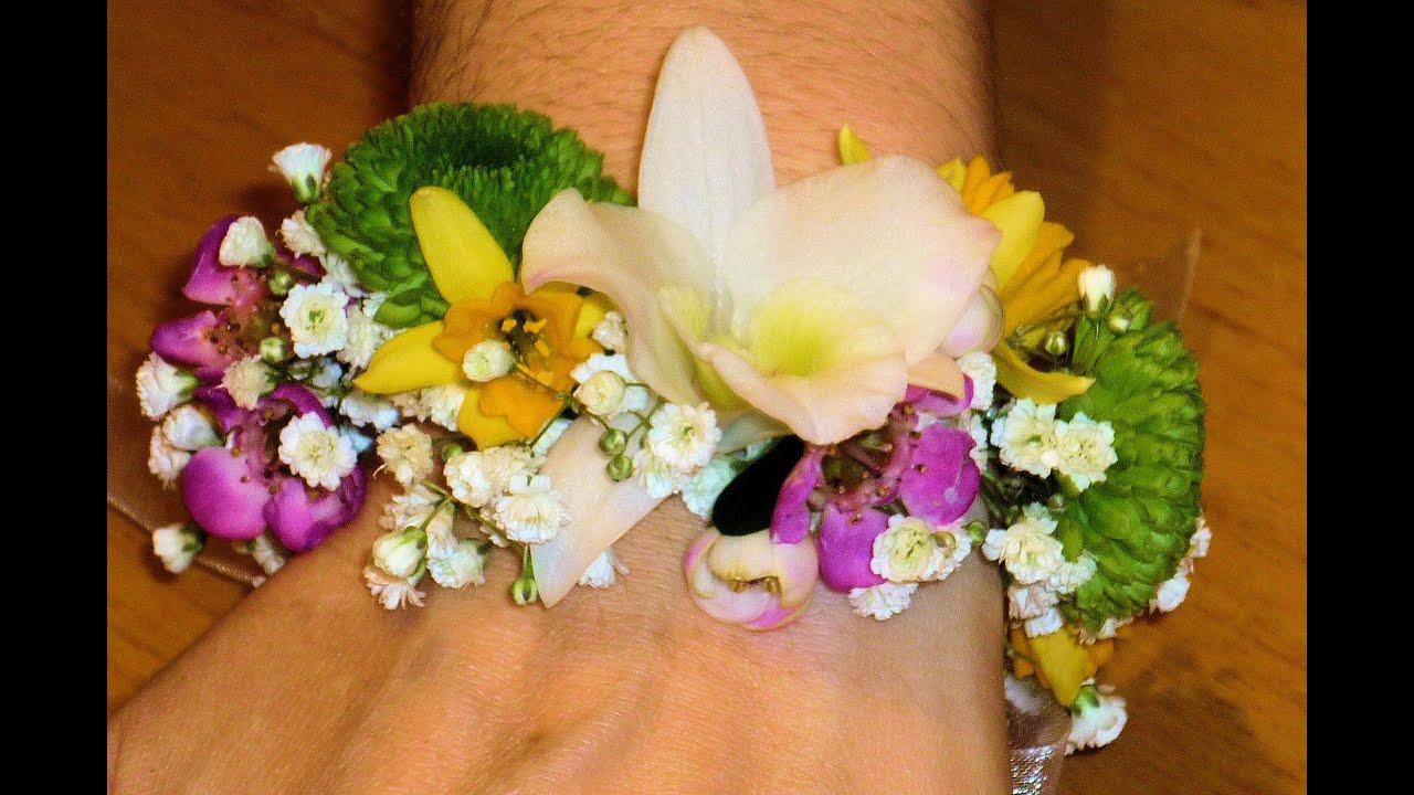 diy valentin pulsera de flores naturales youtube