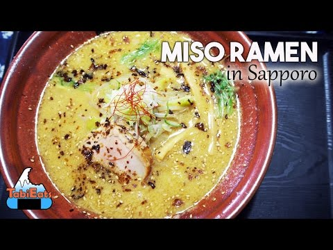 The Best Miso Ramen in the World? (Hokkaido Ramen KURO OBI) FOOD REVIEW