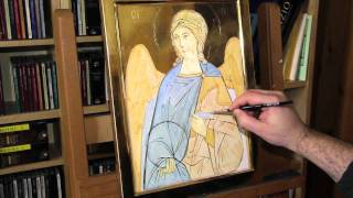 1 - Icon of an Angel ground colors