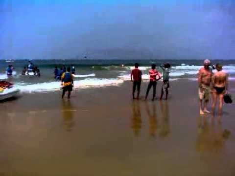 Calangute Beach, Goa, India.