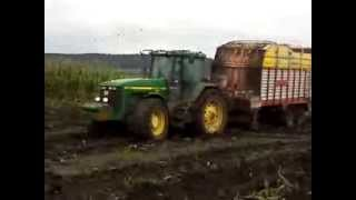 John Deere 8300 almost stuck!!!