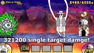 Battle Cats - Tecoluga 100% CRIT chance?! (Attack on Titanium)