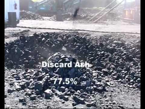 Dry destoning of Coal