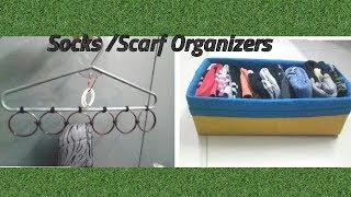 Socks Organizers||DIY||Box Organizer||Hanger Organizer||Scarf organizer||Ep:23
