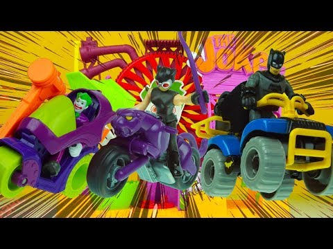 BATMAN vs CATWOMAN vs JOKER NEW motorcycles imaginext superhero toys