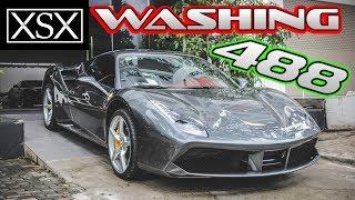 Washing Ferrari 488GTB At Cuong Dollar House | XSX