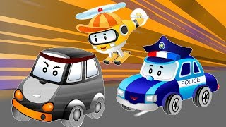 Police car Chase thief stolen baby cars treasure chest | Songs & Cartoon for Kids