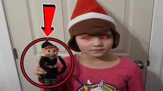 Mean Elf Is Controlling Carlie! She's Turning Into An Elf! Mean Elf On The Shelf Returns!