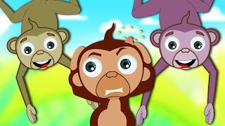 Five Little Monkeys Jumping On The Bed Song   Baby Nursery Rhymes Songs for Children Kids Toddlers