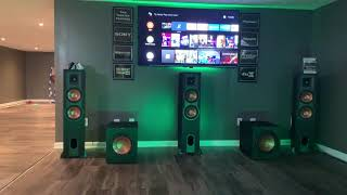 My Klipsch 5.2.2 Dolby Atmos home theater setup UPDATED 1-16-19