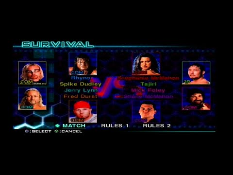 WWF SmackDown! Just Bring it - 8-man Battle Royal [ All Hidden Wrestlers ] thumbnail