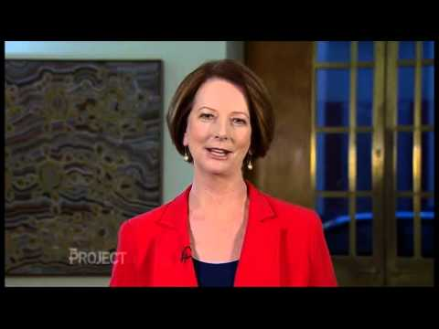 The Campaign - Will Ferrell Interviews Julia Gillard on The Project