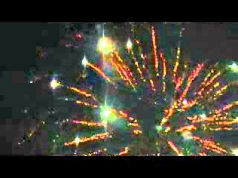 Fireworks at Ridgefield High School 2013 (sky view)