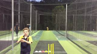 James - 4 months after starting to bowl leg spin.