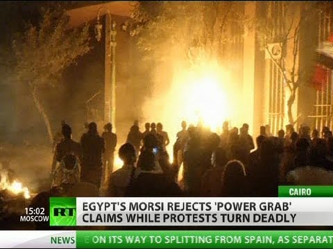 Tahrir Battleground: Protest over Morsi 'power grab' turns deadly