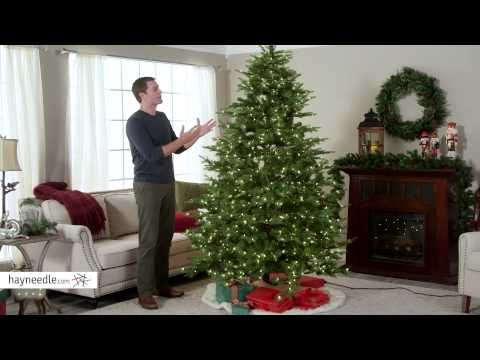 7.5 ft. Feel Real Nordic Spruce Hinged Christmas Tree - Clear - Product Review Video