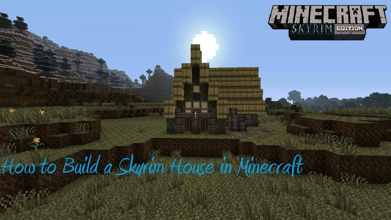 How to build a skyrim house in minecraft easy youtube for Best house designs skyrim