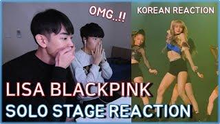 [BI/THAI] LISA Blackpink solo stage / Concert in Bangkok Thailand  2019 / BLACKPINK REACTION