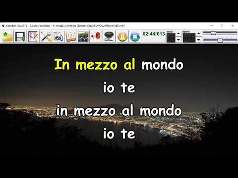 Biagio Antonacci - In mezzo al mondo (Syncro by CrazyHorse1965) Karabox - Karaoke
