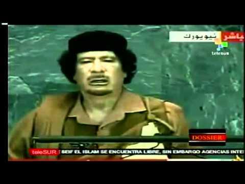 Discurso Ante La Onu Que Le Costo La Vida A Muamar El Gadafi video