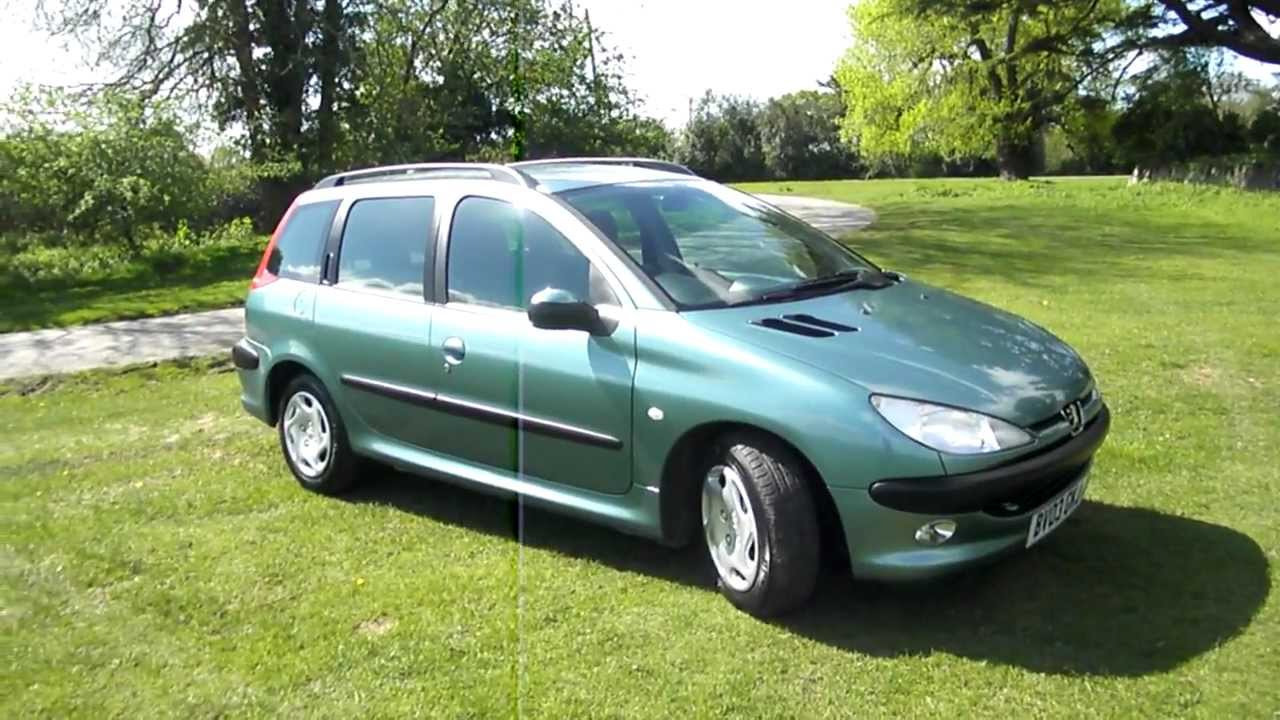 2003 peugeot 206 1 4 hdi sw xt estate 50 mpg youtube. Black Bedroom Furniture Sets. Home Design Ideas