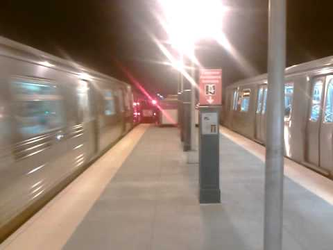 Express D train vs Local N train @ 62nd Street
