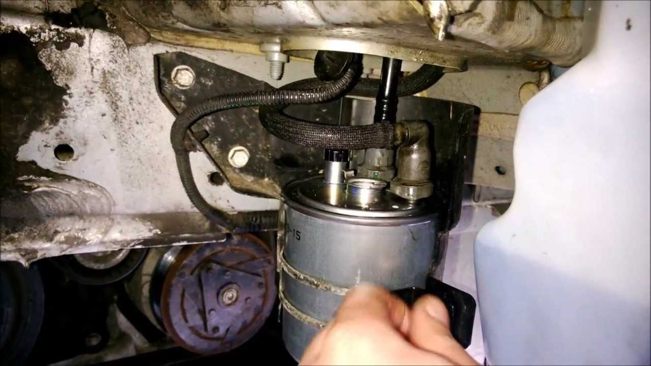 How To Change Fuel Diesel Filter On Renault Laguna Mk3 2