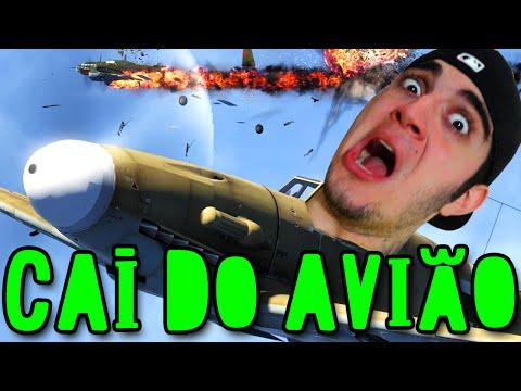 CAÍ DO AVIÃO ;-; EXPLODIU TUDO!! - WarThunder (Jogo Grátis!)
